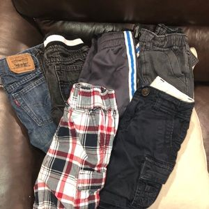 Lost of 6 boy gently used pants and shorts